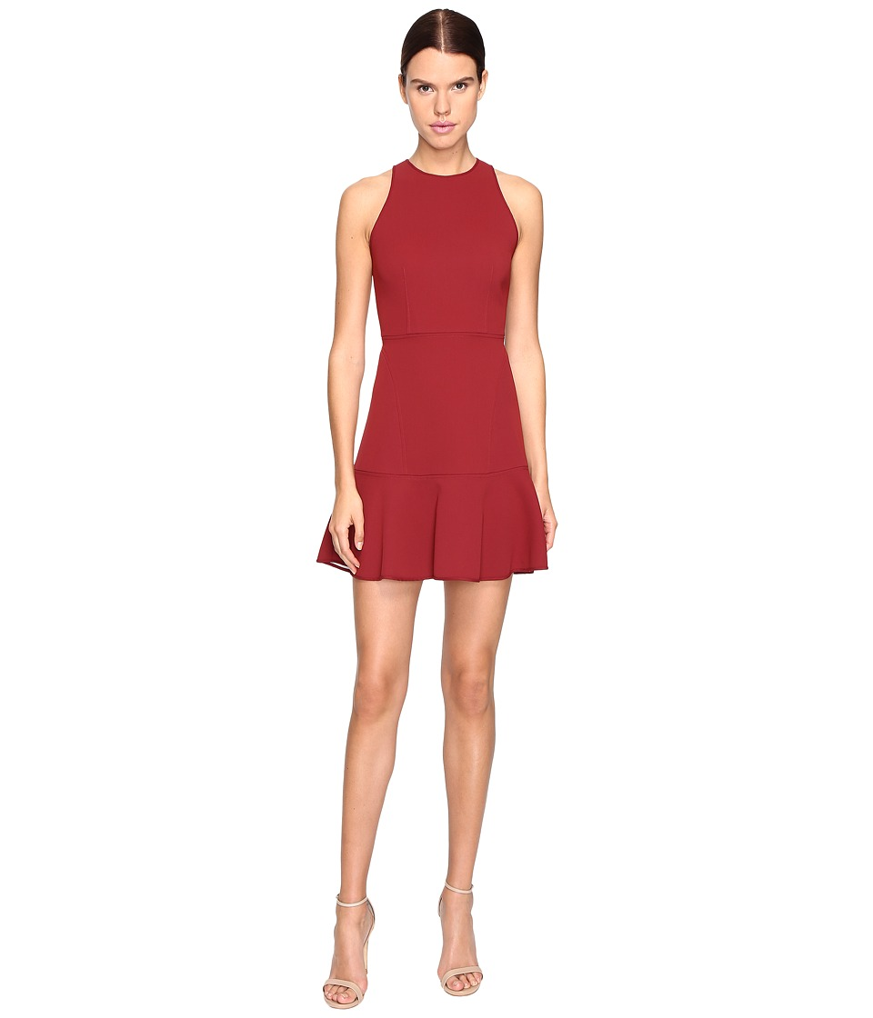 Theory - Felicitina Bonded Double Crepe Dress (Black Cherry/Classic White) Women's Dress