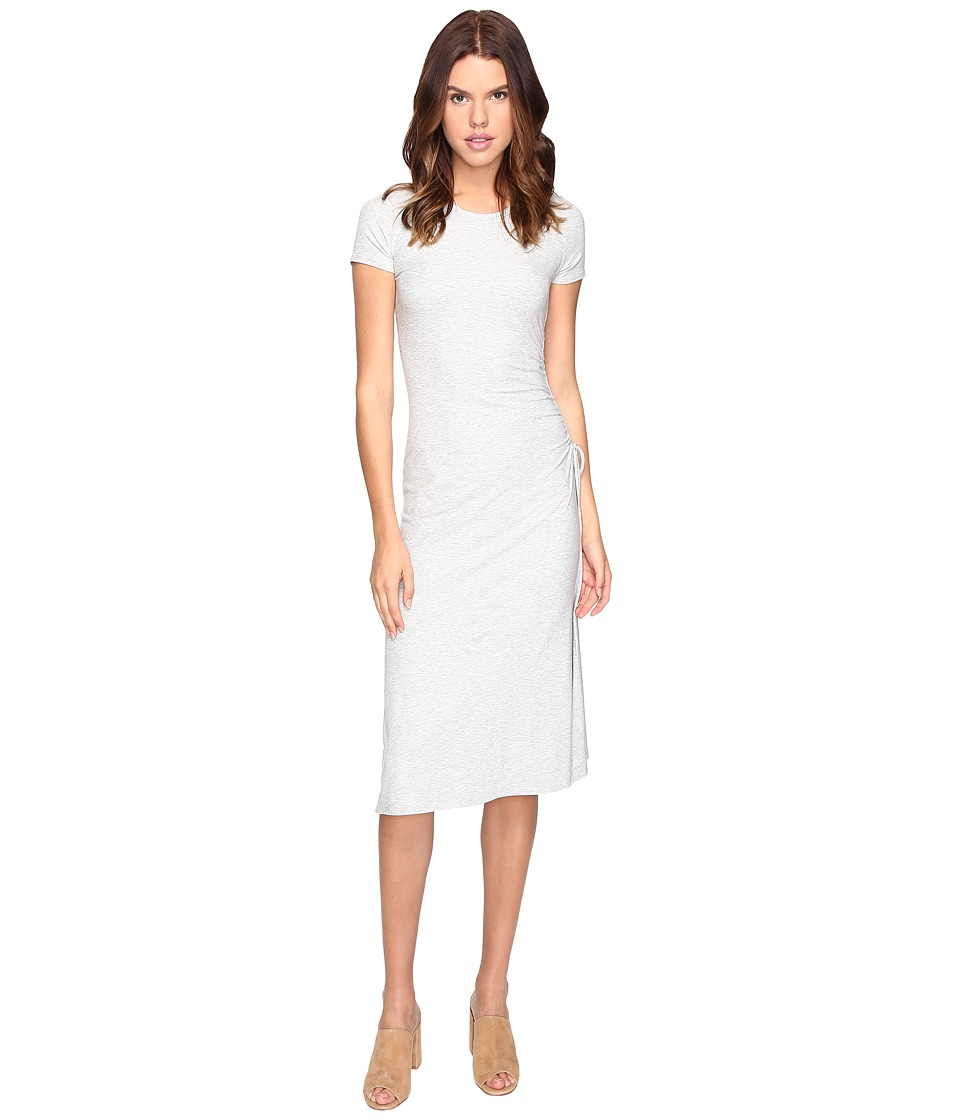 Theory Jilaena Ribbed Viscose Dress (Frosted Grey) Women