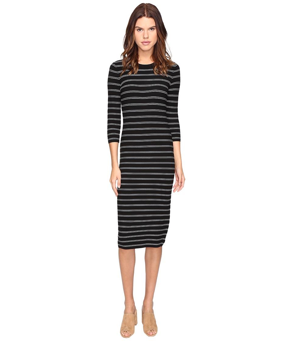 Theory - Delissa B Prosecco Dress (Black/White) Women's Dress