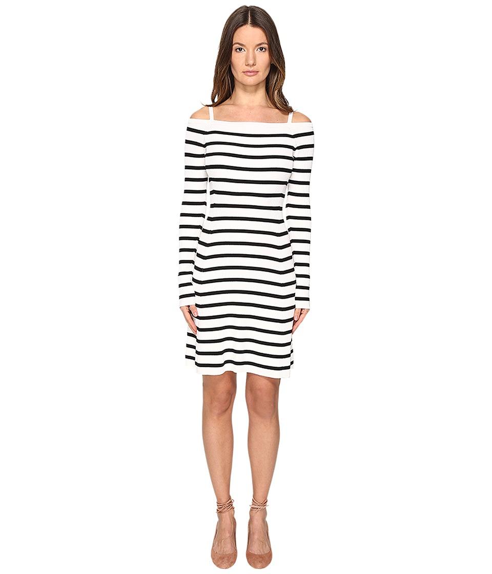 Theory Pirellia St. Prosecco Dress (Eggshell/Black) Women