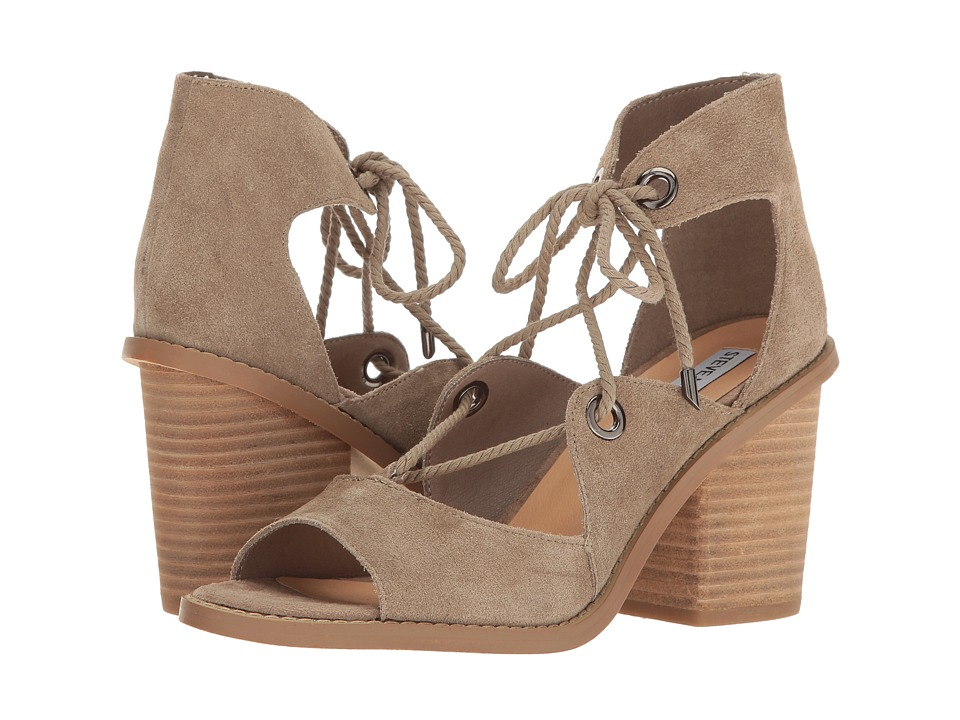 Steve Madden Carahh Taupe Suede Toe Open Shoes