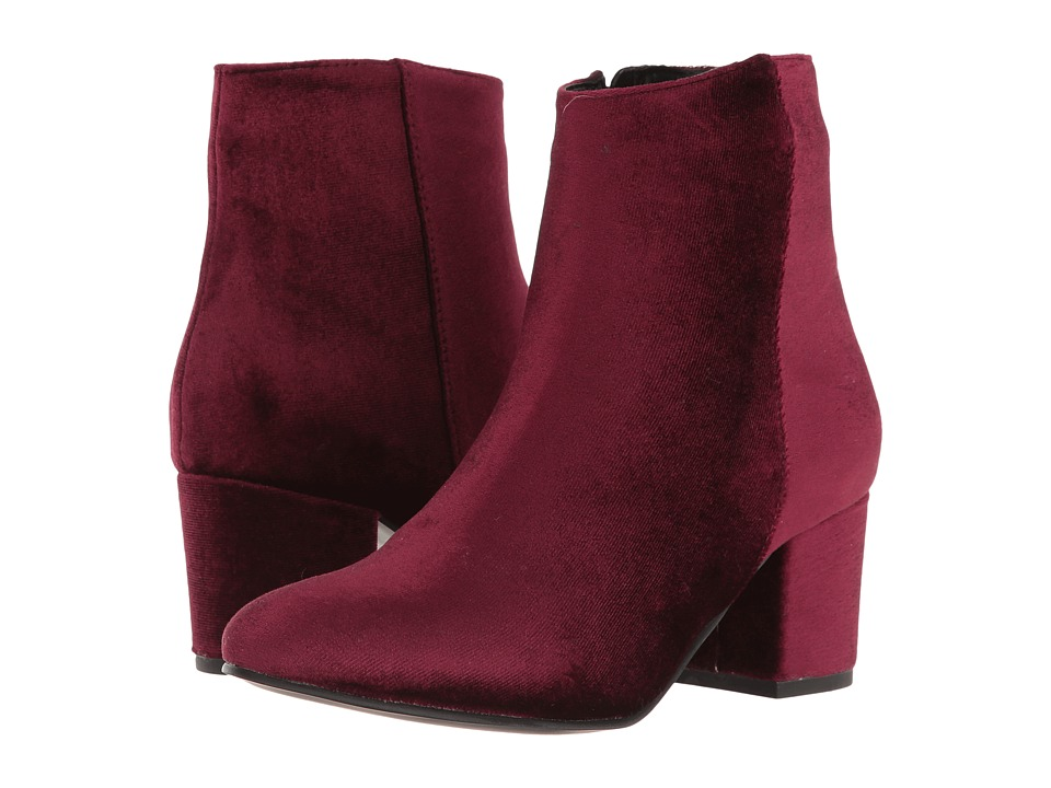 Steve Madden Herow (Burgundy Velvet) Women
