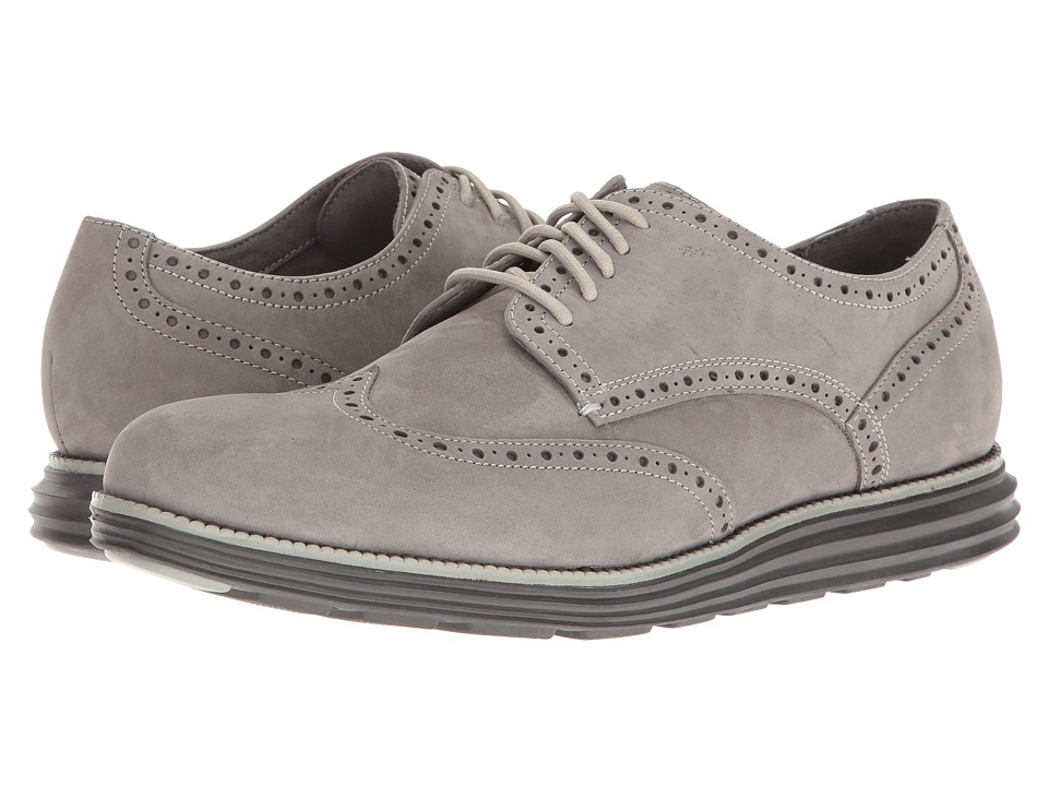 Cole Haan - Original Grand Wing Oxford (Ironstone Nubuck/Ivory/Magnet) Men's Lace up casual Shoes