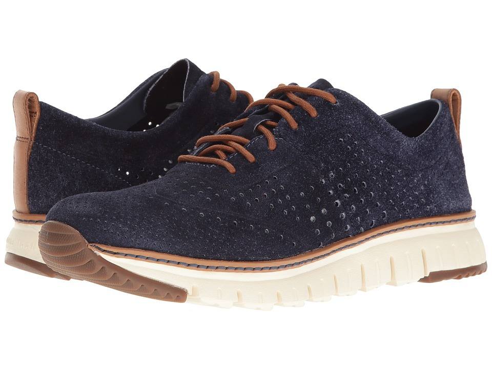Cole Haan - Zerogrand Laser Perf Sneaker (Washed Indigo Suede Open/Ivory) Men's Shoes