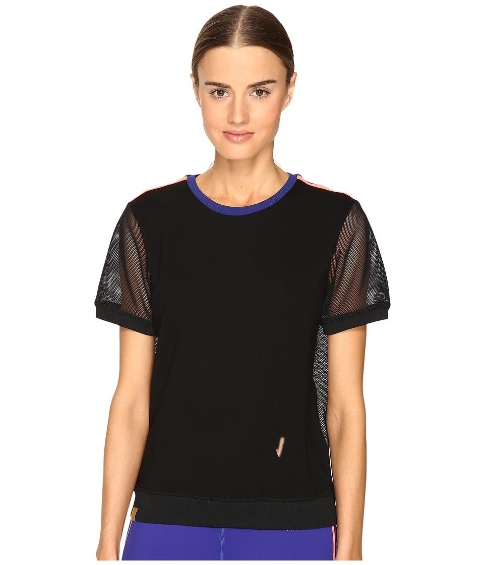 Monreal London - Mesh Sweat Tee (Black) Women's T Shirt