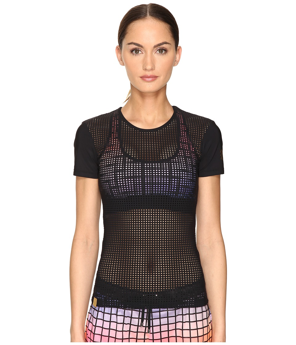 Monreal London - Perforated Tee (Black 1) Women's T Shirt