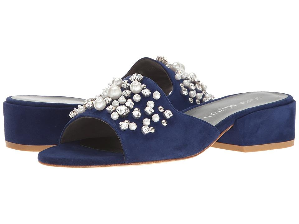 Stuart Weitzman - Decorslide (Sapphire Suede) Women's Shoes