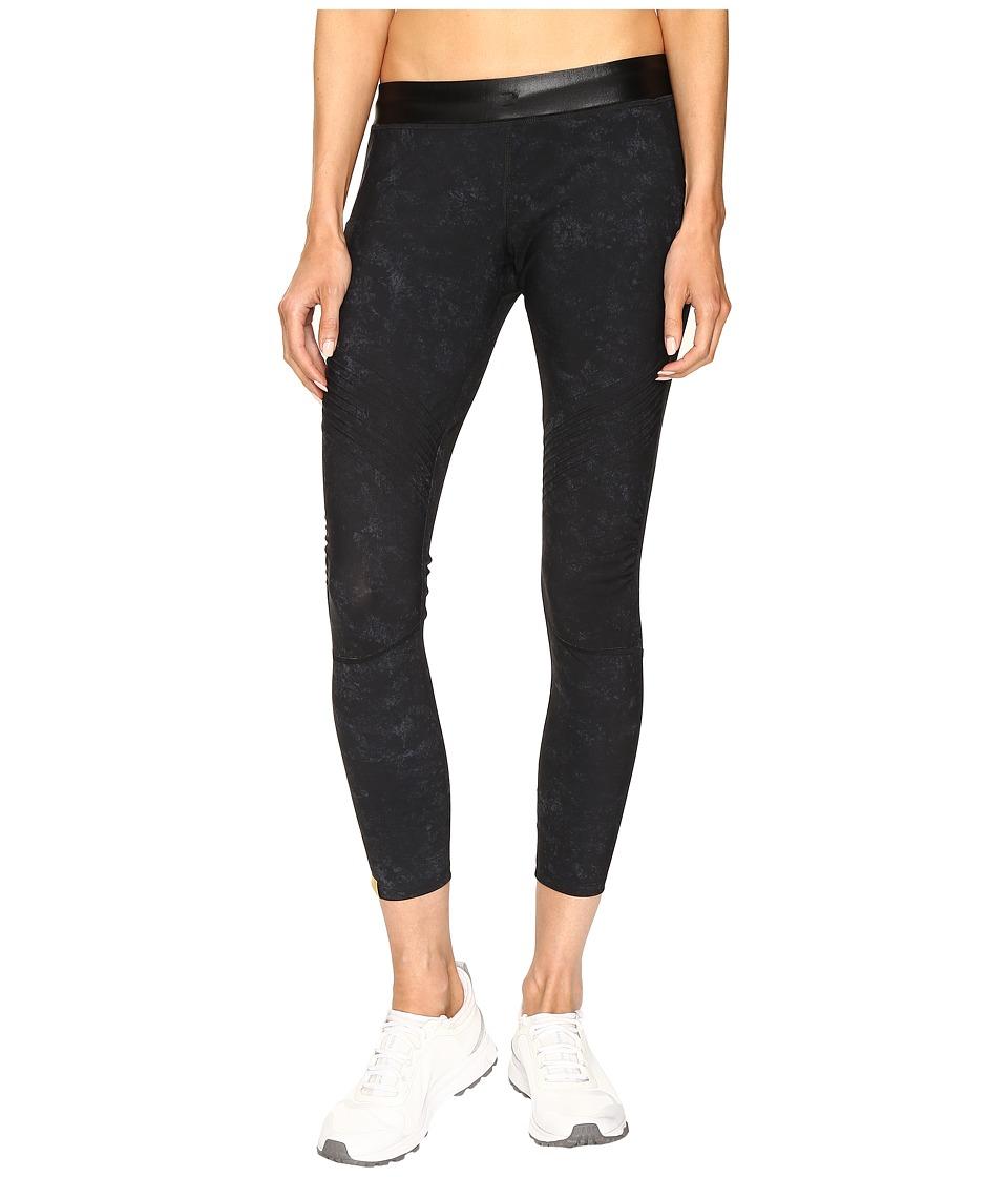 Monreal London - Biker Leggings (Black Suede Print) Women's Casual Pants