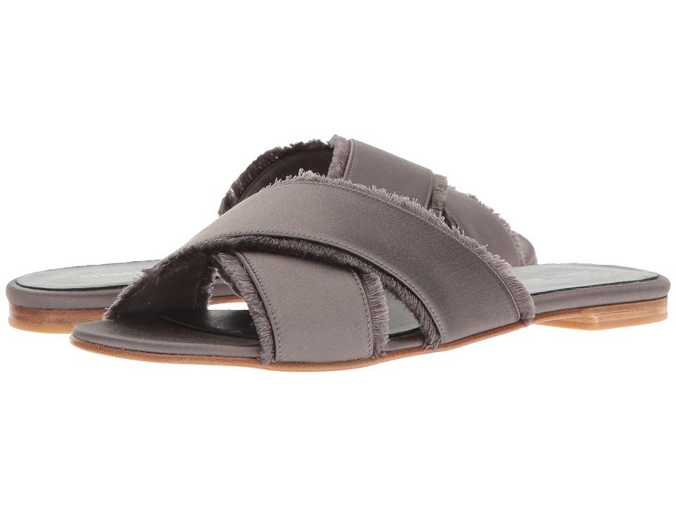 Stuart Weitzman - Edgedout (Slate Satin) Women's Shoes