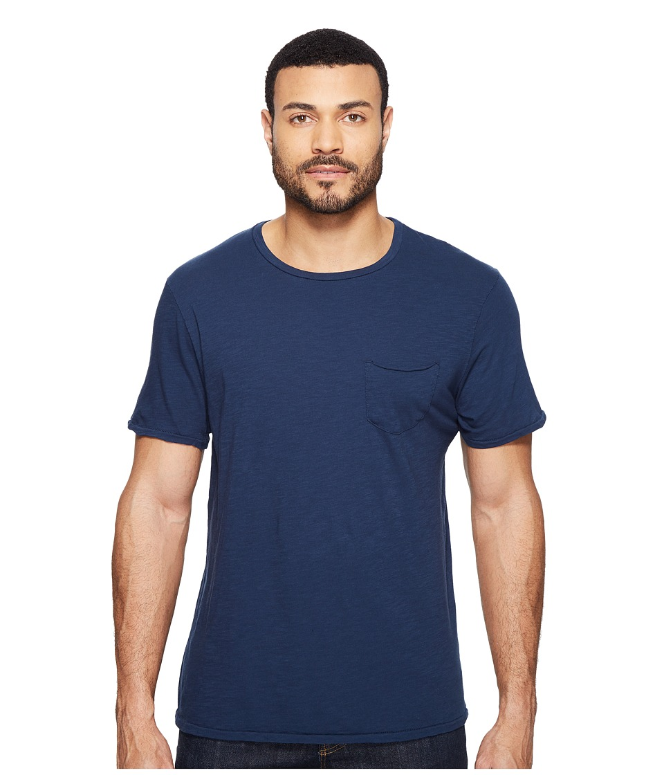 Joe's Jeans - Chase Raw Edge Short Sleeve Crew (Navy) Men's Short Sleeve Pullover