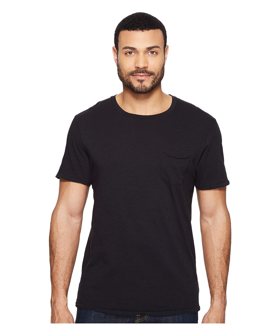 Joe's Jeans - Chase Raw Edge Short Sleeve Crew (Jet Black) Men's Short Sleeve Pullover