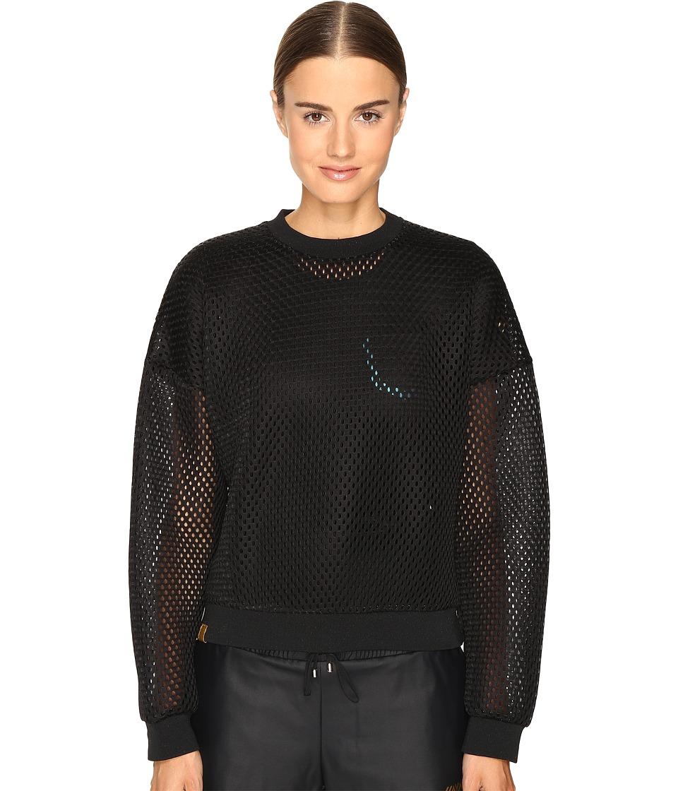 Monreal London - Cropped Sweatshirt (Black/Acid) Women's Sweatshirt