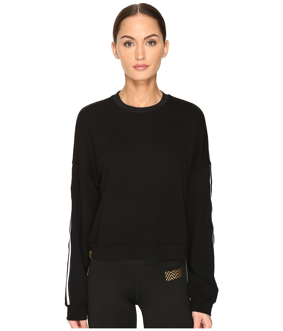 Monreal London - Cropped Sweatshirt (White/Black) Women's Sweatshirt