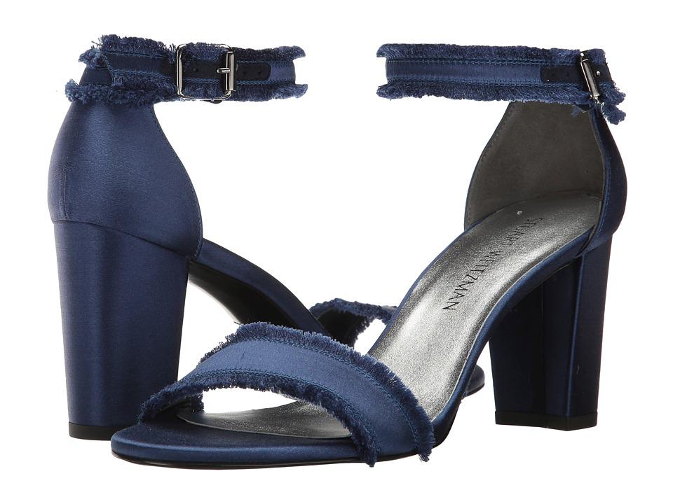 Stuart Weitzman - Frayed (Midnight Satin) Women's Shoes