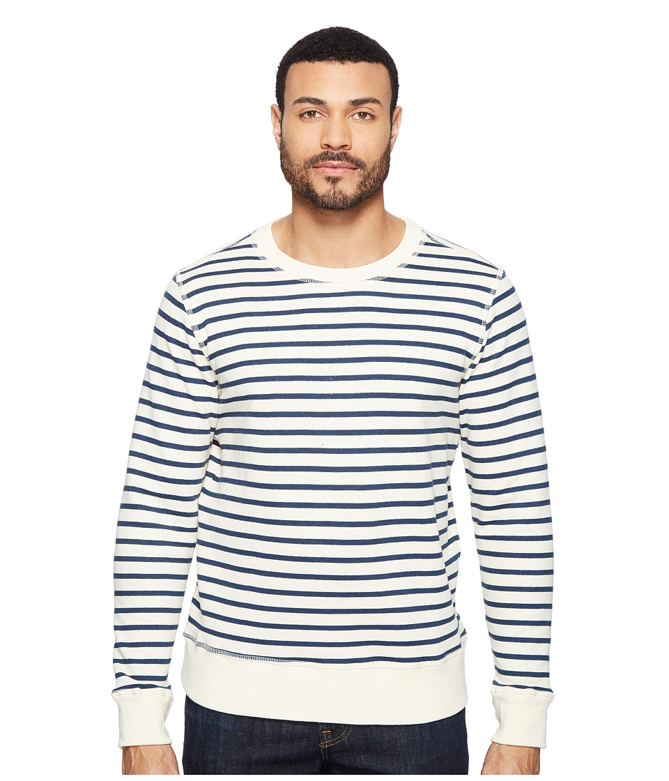 Joe's Jeans - Edison Sweatshirt Vintage Sailor Stripe (Ecru/Sailor) Men's Sweatshirt