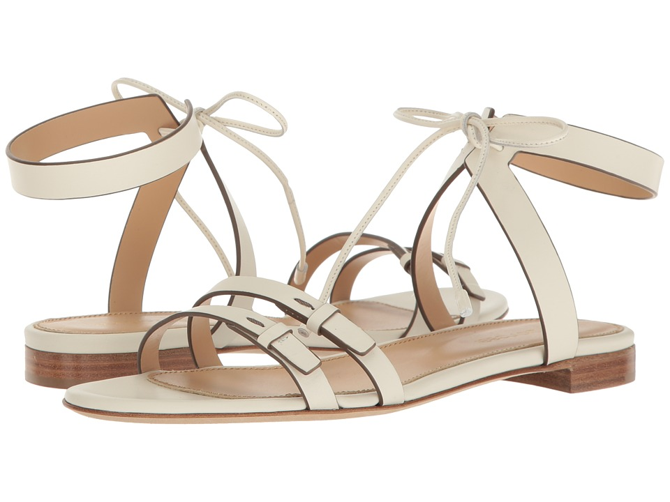 Sergio Rossi - Zoe Flat (Jasmine Blanc Leather) Women's Sandals