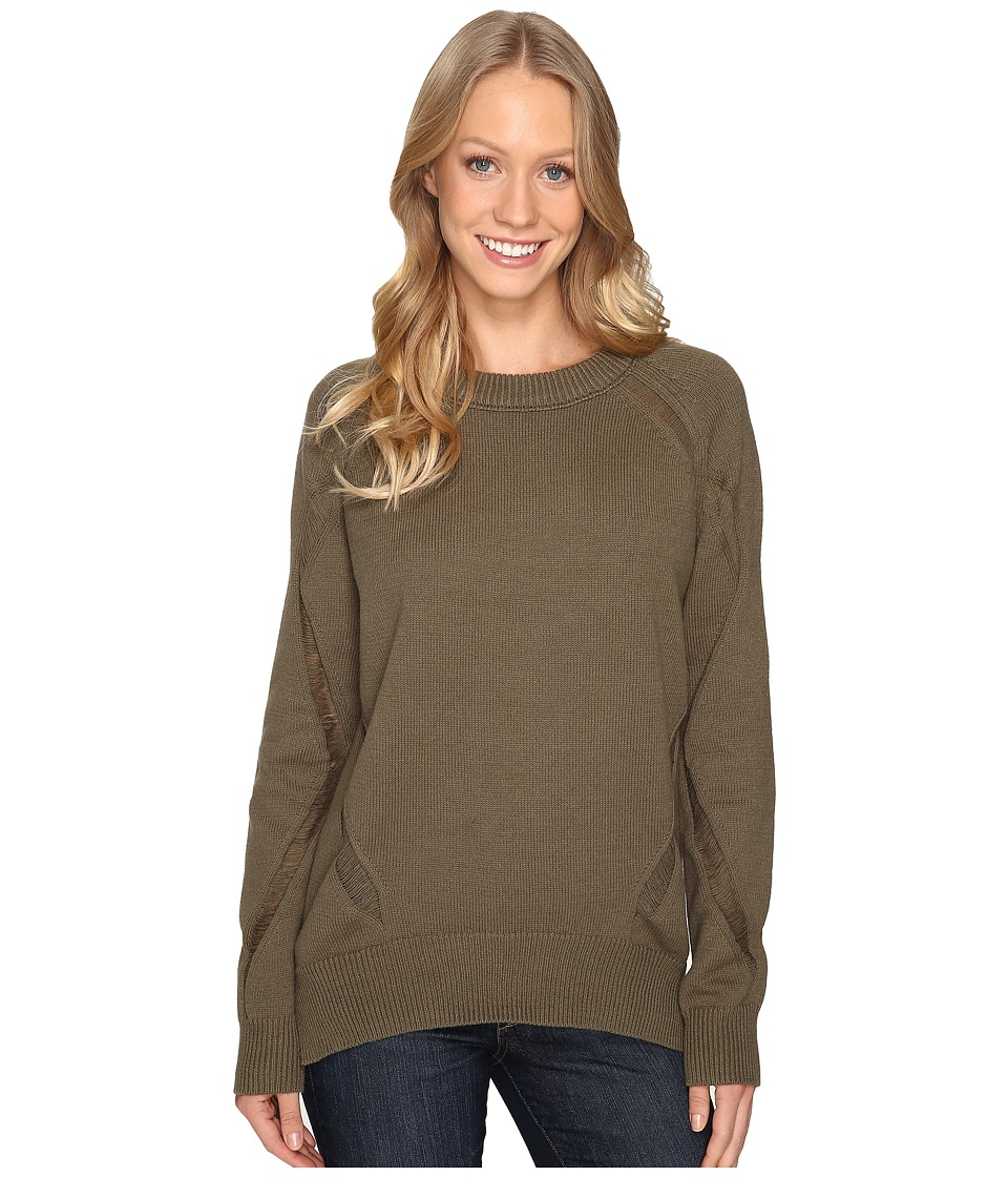Fate - Distressed Sweater (Olive) Women's Sweater