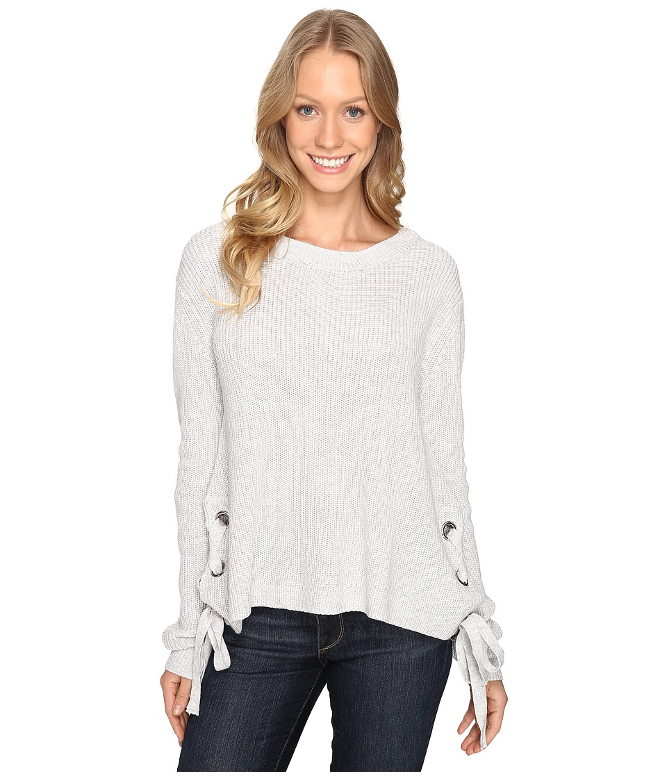 Fate - Side Lace-Up Sweater (Grey) Women's Sweater