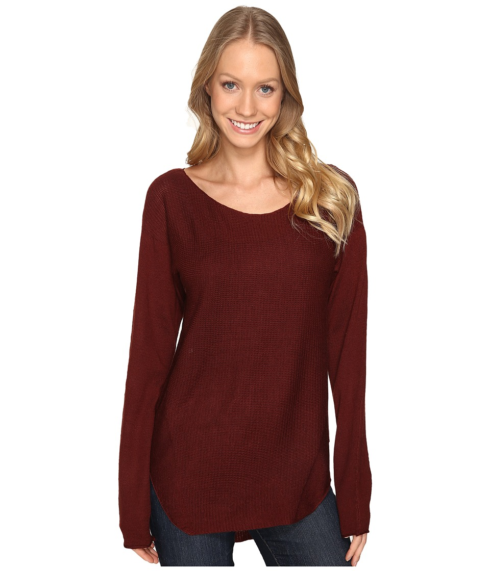 Fate - Sweater Knit Tee (Wine) Women's T Shirt