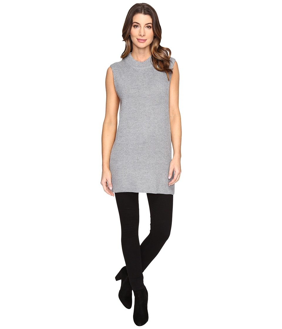 Fate - Sleeveless Mock Neck Sweater (Grey) Women's Sweater