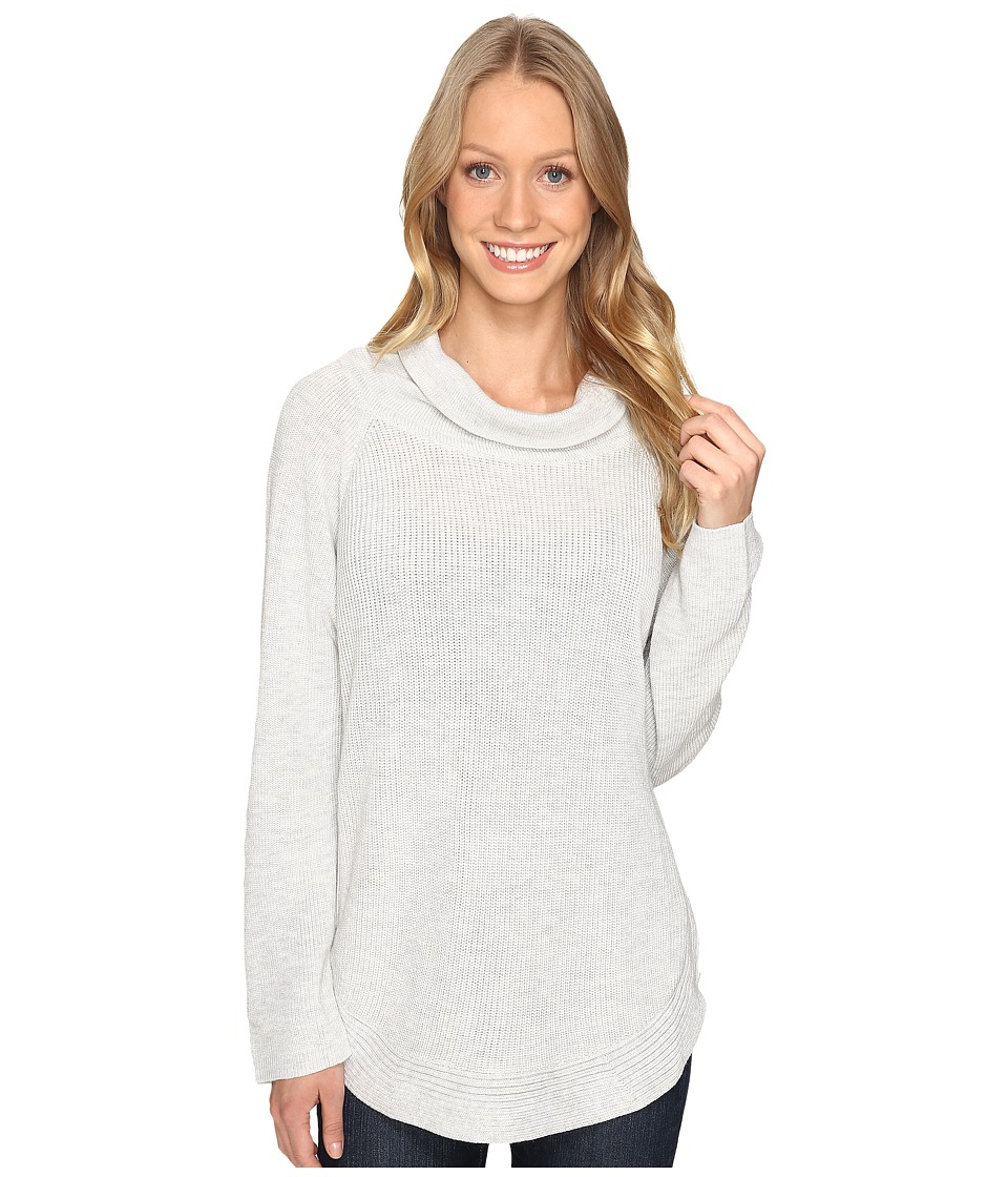 Fate - Side Zip Cowl Neck Sweater (Grey) Women's Sweater