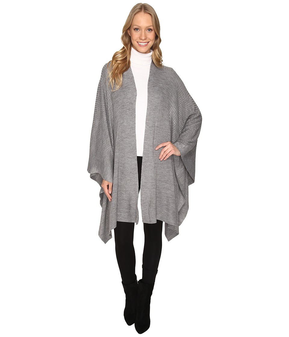 Fate - Knit Wrap (Heather Grey) Women's Clothing