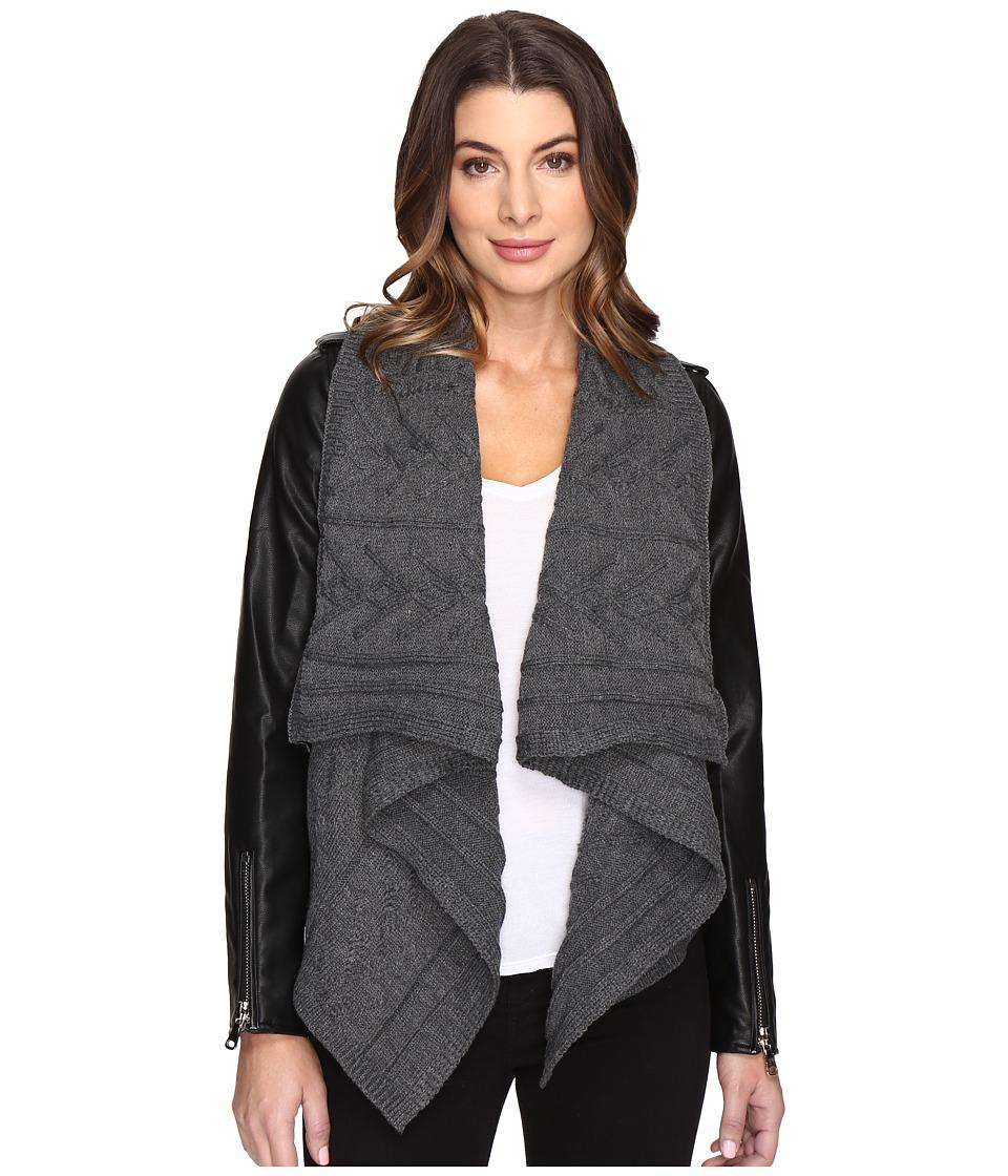 Fate - Knit Vegan Jacket (Charcoal) Women's Coat