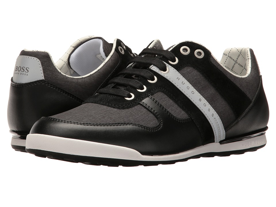 BOSS Hugo Boss - Arkansas Low Nylon Sneaker (Black) Men's Shoes
