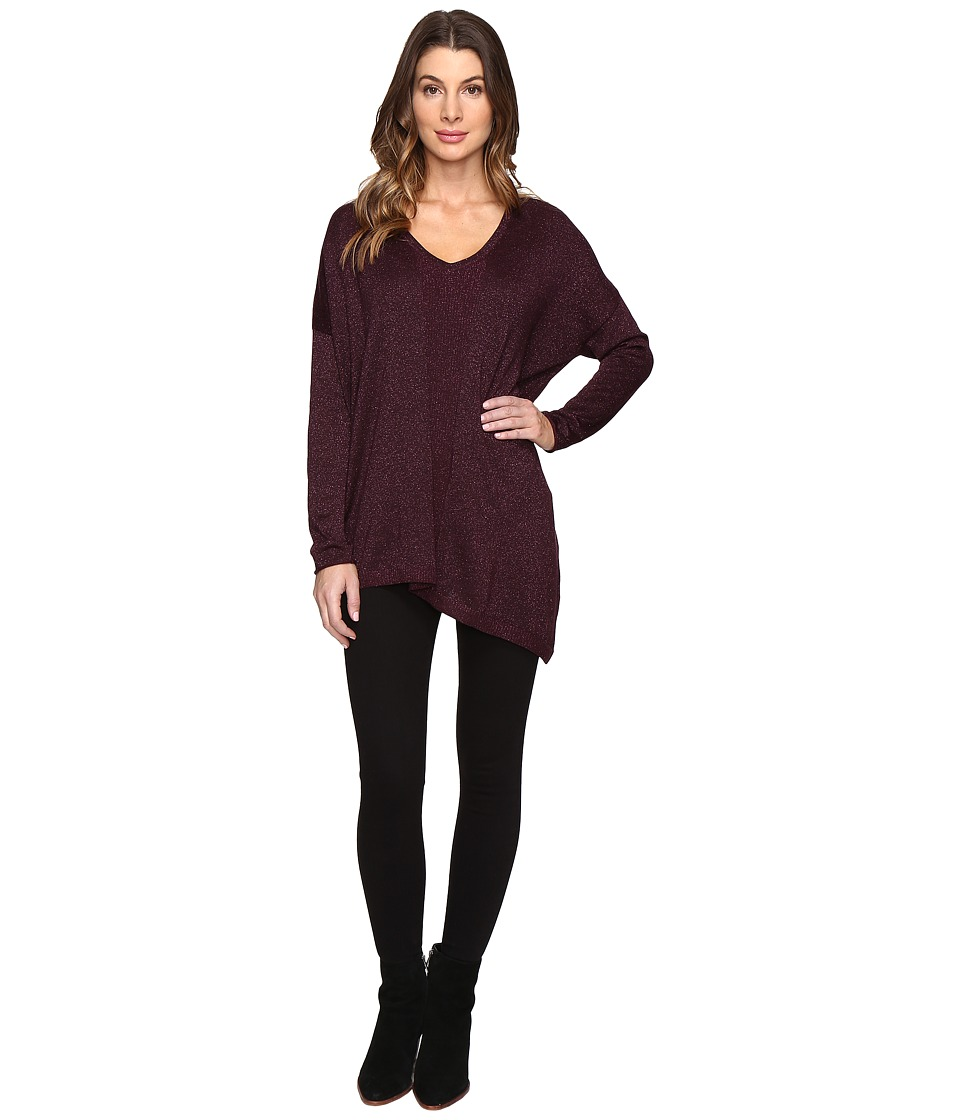 NYDJ - Shinner Asymmetric Sweater (Zinfandel) Women's Sweater