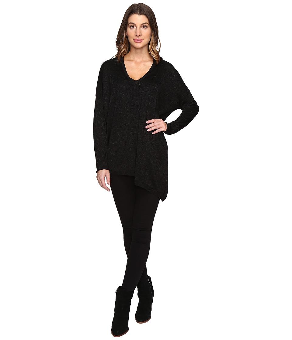 NYDJ - Shinner Asymmetric Sweater (Black) Women's Sweater