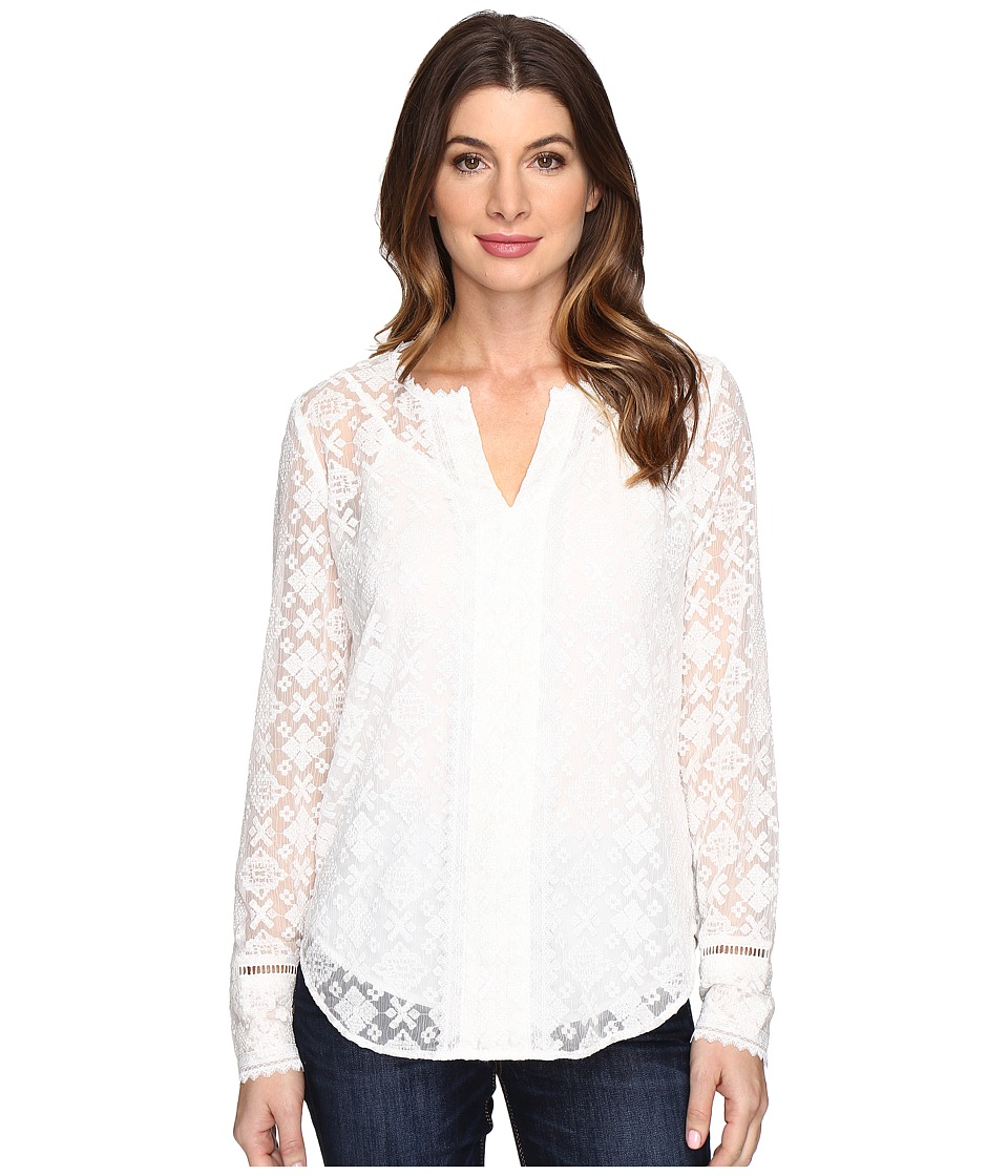 NYDJ - Irina Embroidered Blouse (Sugar) Women's Blouse