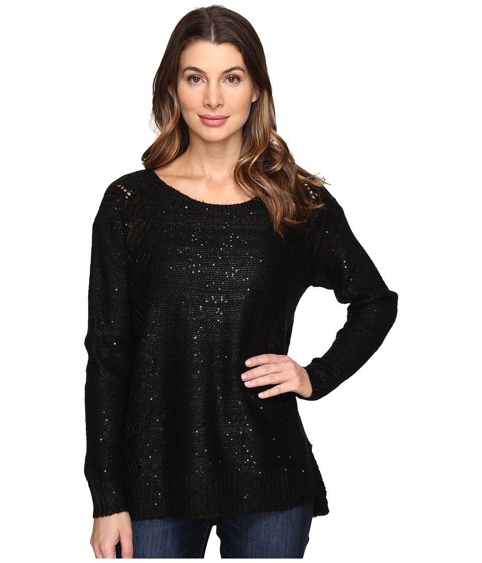NYDJ - Sequin Tunic (Black) Women's Blouse