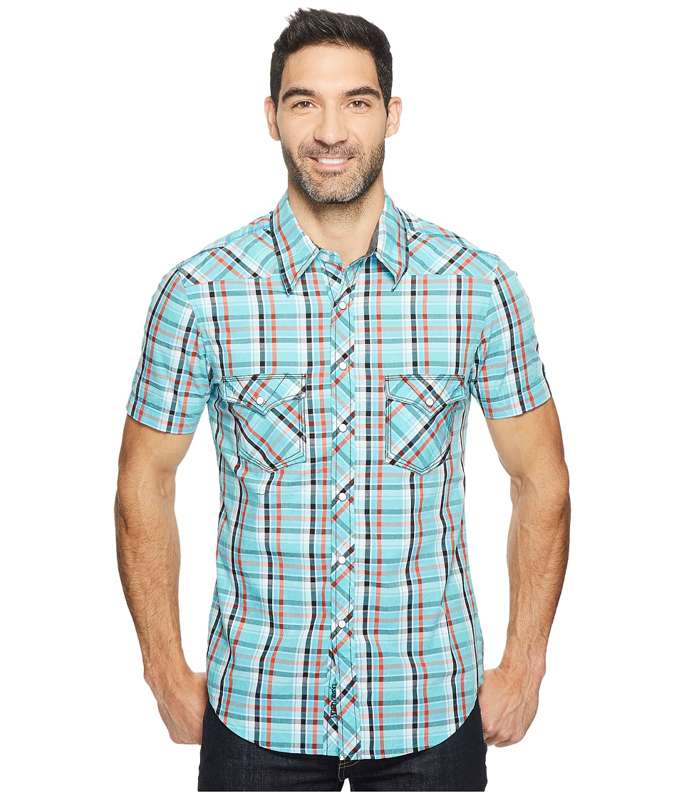 Rock and Roll Cowboy - Short Sleeve Snap B1S2057 (Jade) Men's Clothing