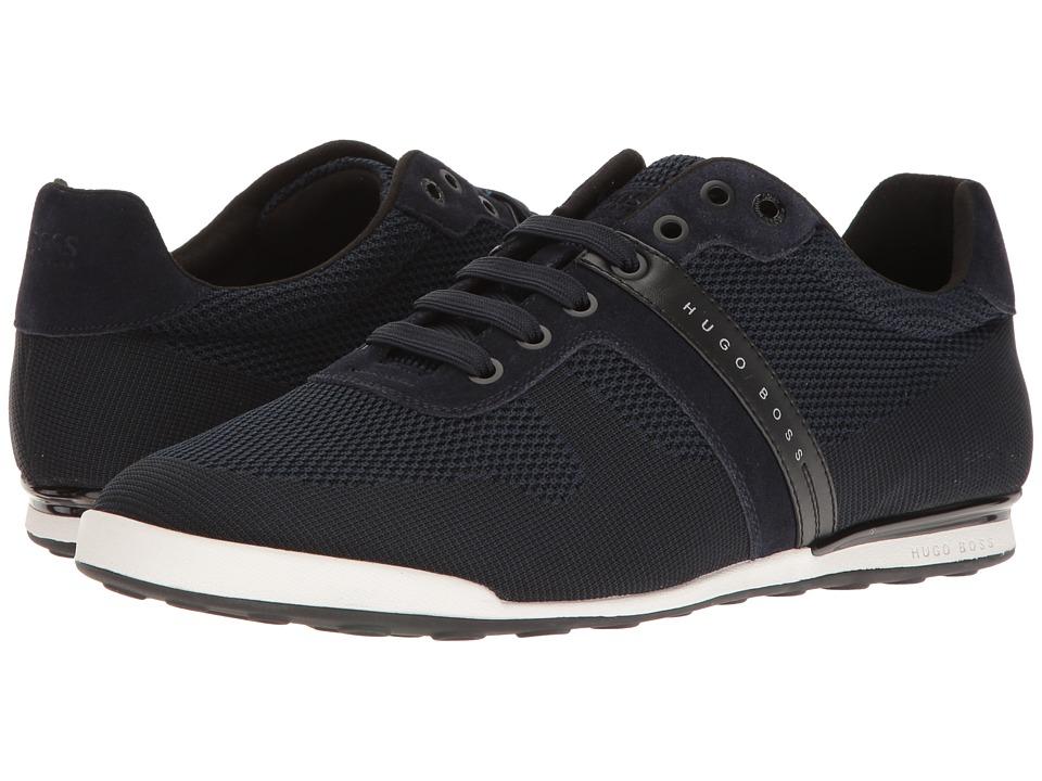 BOSS Hugo Boss - Arkansas Low Suede Sneaker (Dark Blue) Men's Shoes