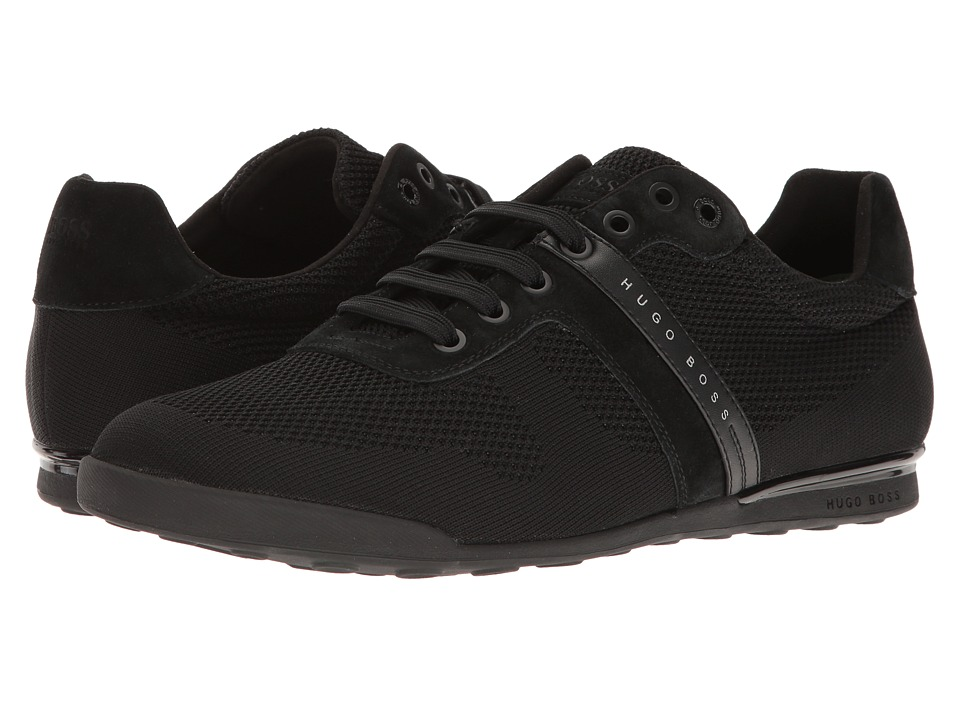 BOSS Hugo Boss - Arkansas Low Suede Sneaker (Black) Men's Shoes