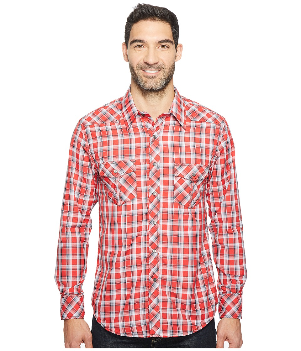 Rock and Roll Cowboy - Long Sleeve Snap B2S2054 (Red) Men's Clothing