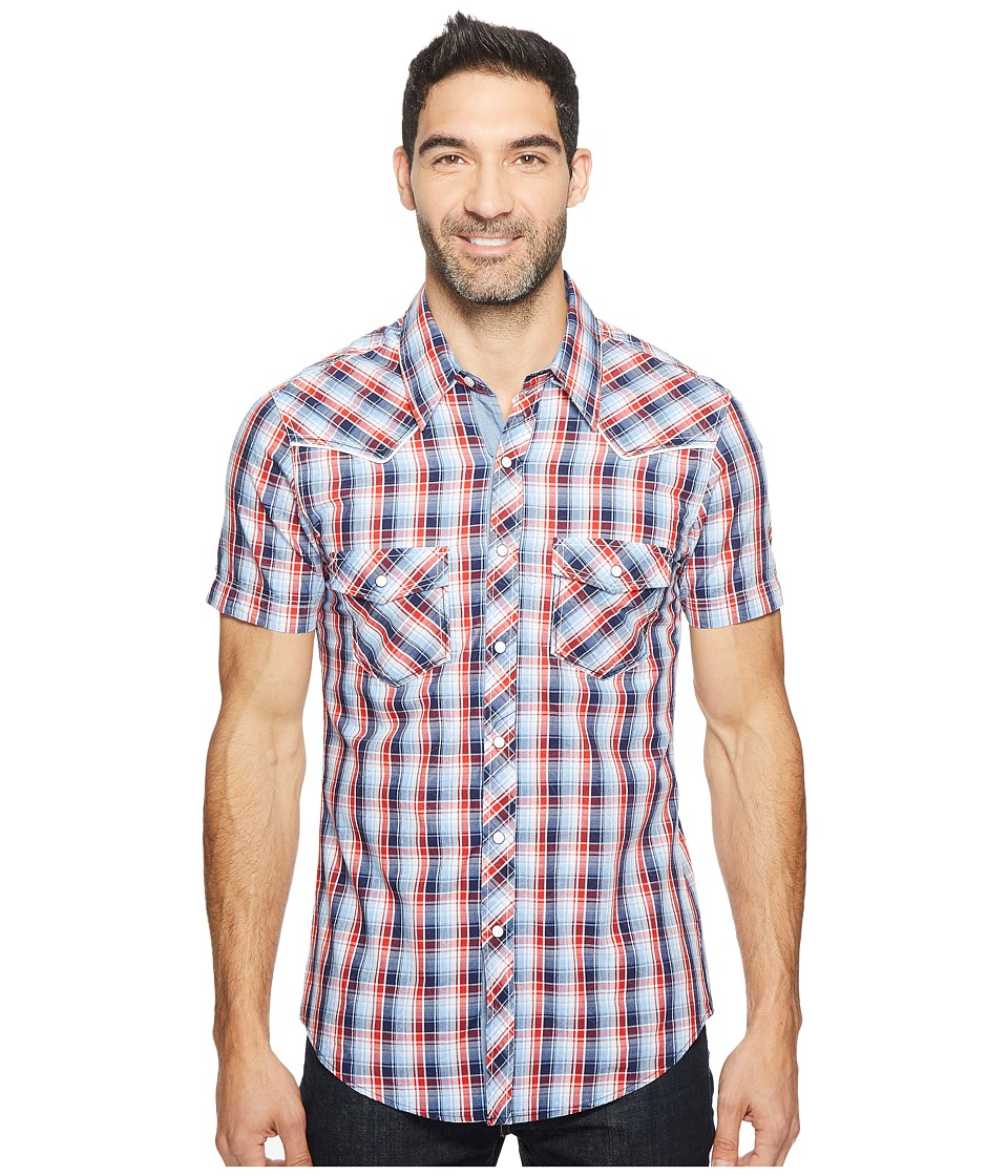 Rock and Roll Cowboy - Short Sleeve Snap B1S2062 (Red) Men's Clothing