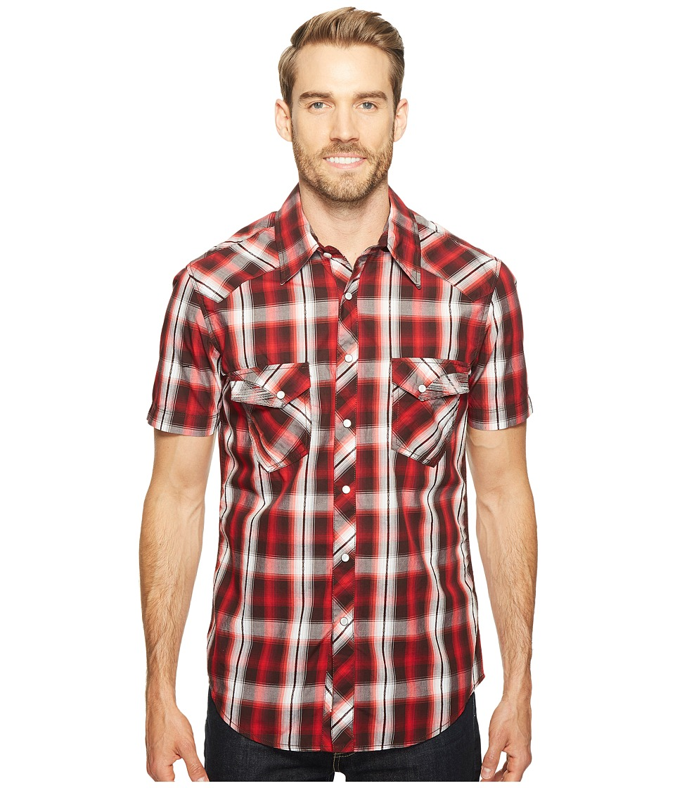 Rock and Roll Cowboy - Short Sleeve Snap B1S2063 (Red) Men's Clothing