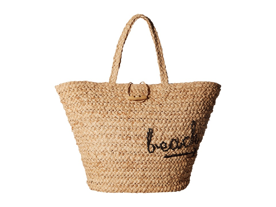 Hat Attack - To The Beach Bag (Natural/Black) Bags