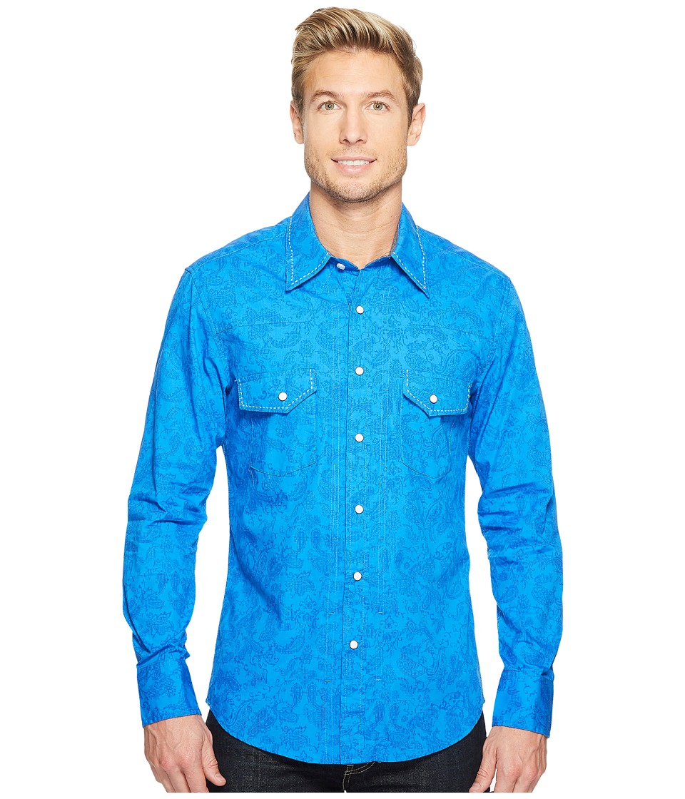 Rock and Roll Cowboy - Long Sleeve Snap B2S2067 (Blue) Men's Clothing