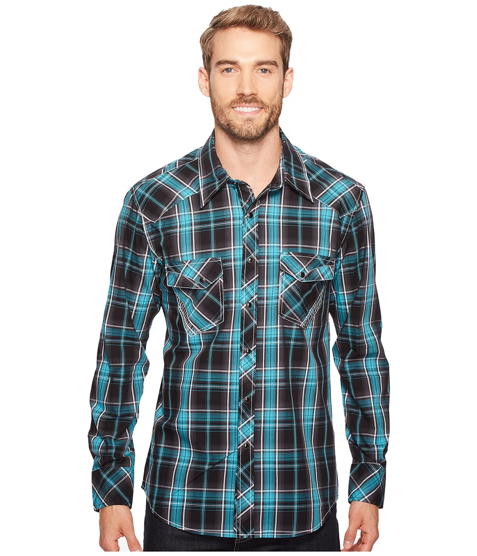 Rock and Roll Cowboy - Long Sleeve Snap B2S2064 (Jade) Men's Clothing