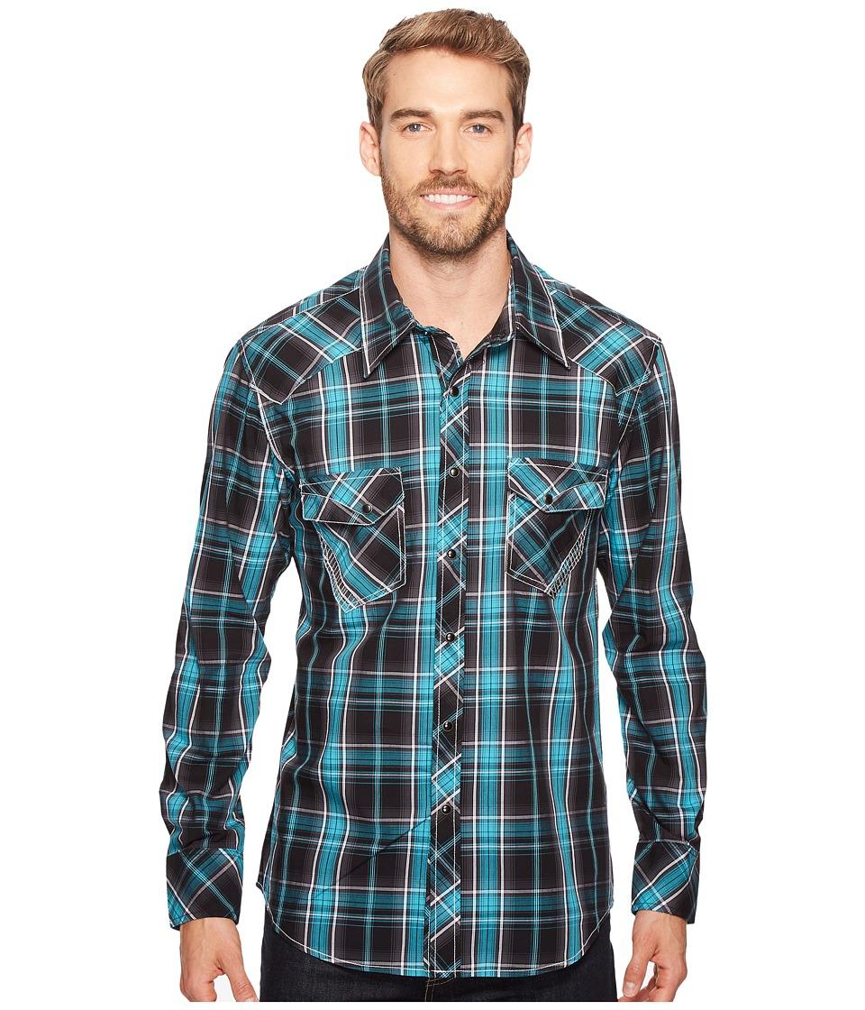 Rock and Roll Cowboy - Long Sleeve Snap B2S2064 (Jade) Men's Clothing