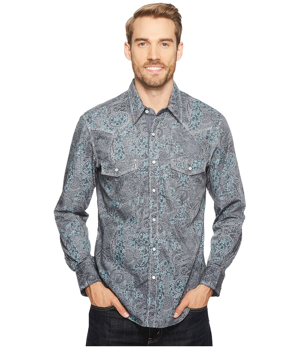 Rock and Roll Cowboy - Long Sleeve Snap B2S2071 (Jade) Men's Clothing