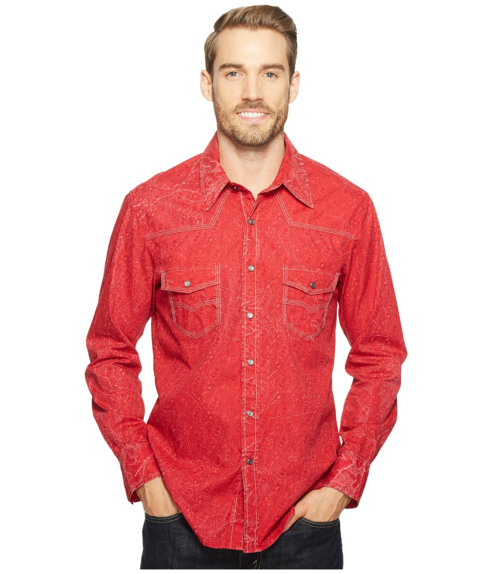 Rock and Roll Cowboy - Long Sleeve Snap B2S2072 (Red) Men's Clothing