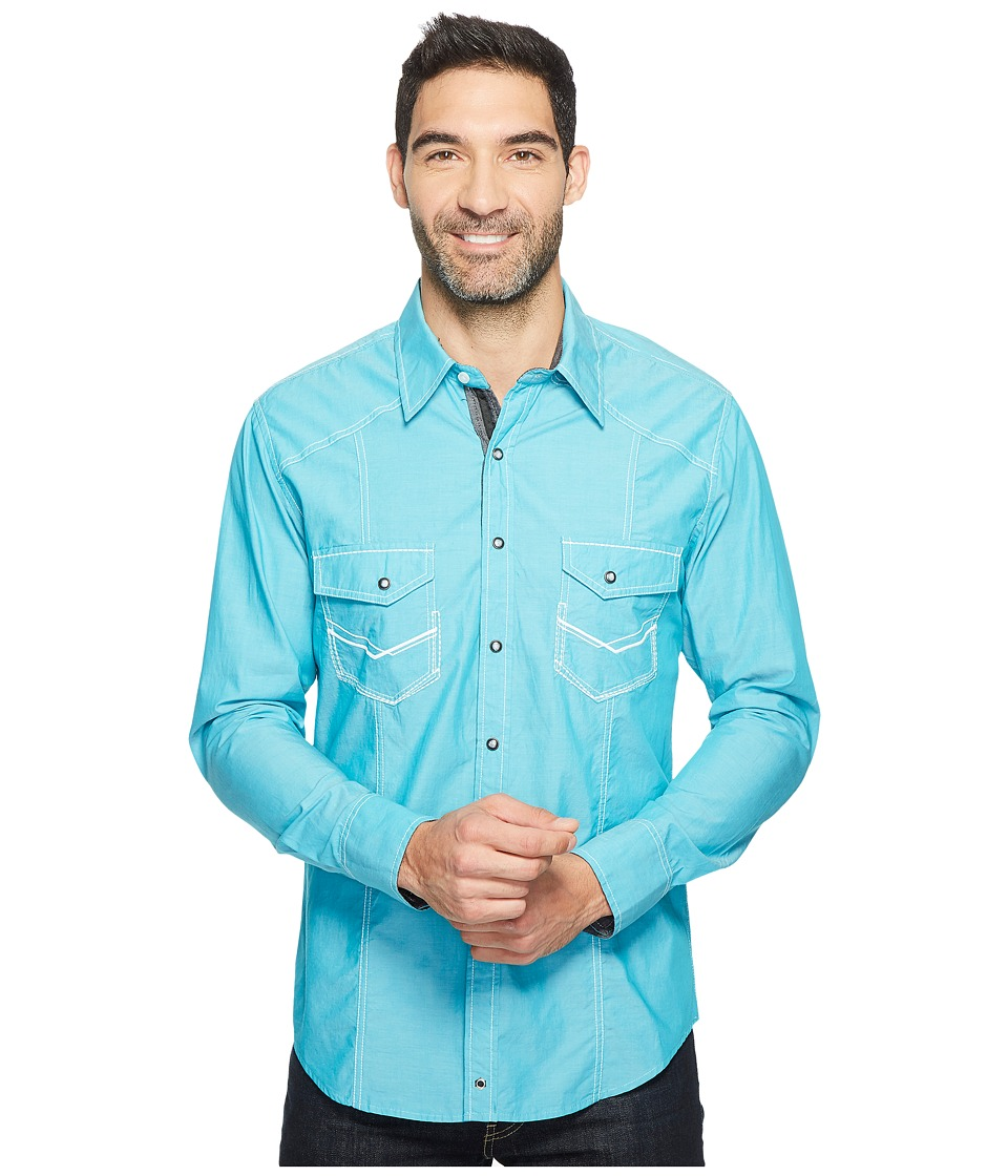 Rock and Roll Cowboy - Long Sleeve Snap B2S2068 (Jade) Men's Clothing