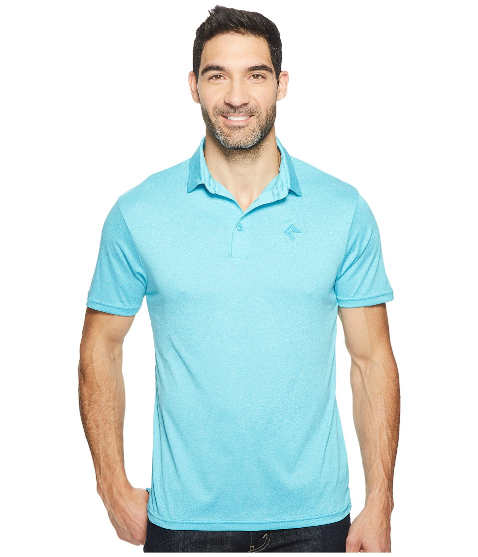 Rock and Roll Cowboy - Short Sleeve Polo P9P2100 (Turquoise) Men's Clothing