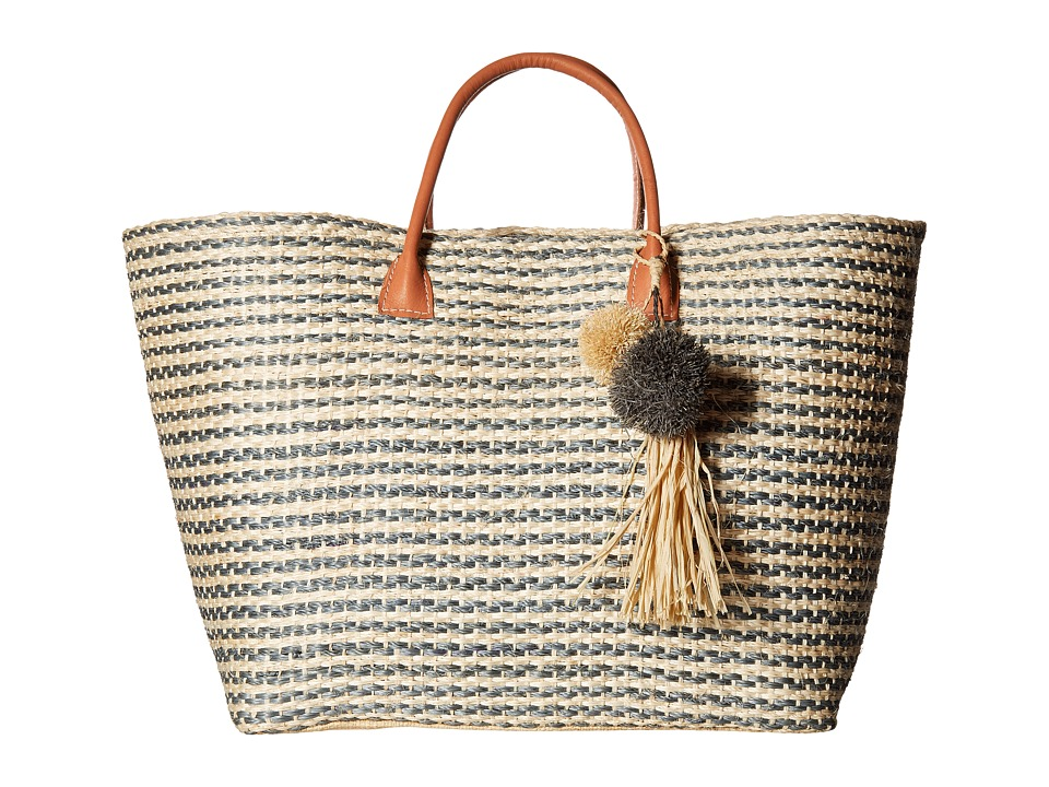 Hat Attack - Provence Tote (Grey Stripe) Tote Handbags