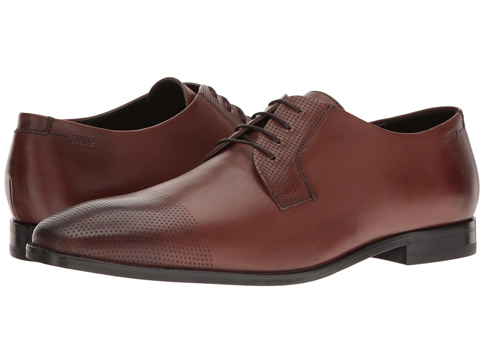 BOSS Hugo Boss - Square Business Lace-Up Derby (Medium Brown) Men's Lace up casual Shoes