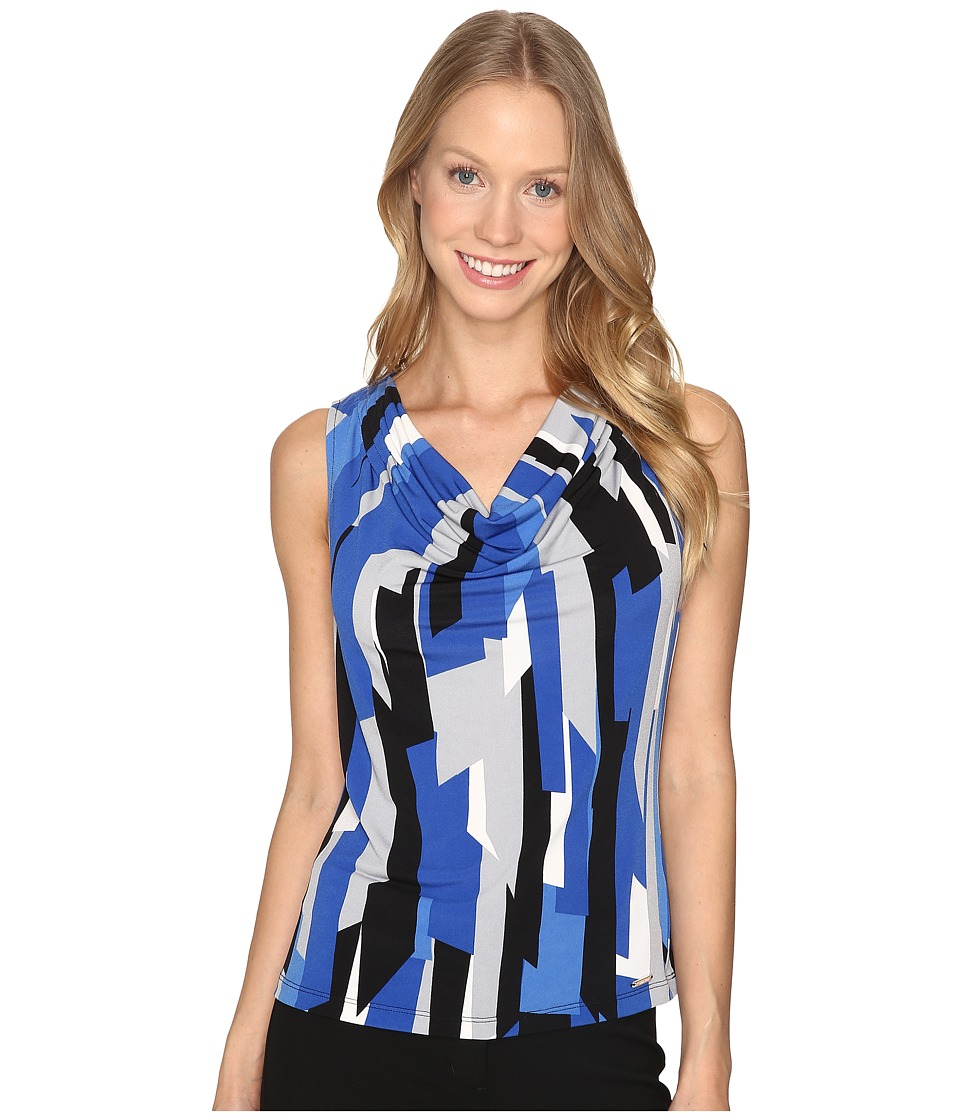 Calvin Klein - Printed Drape Neck Cami (Tin Multi) Women's Sleeveless
