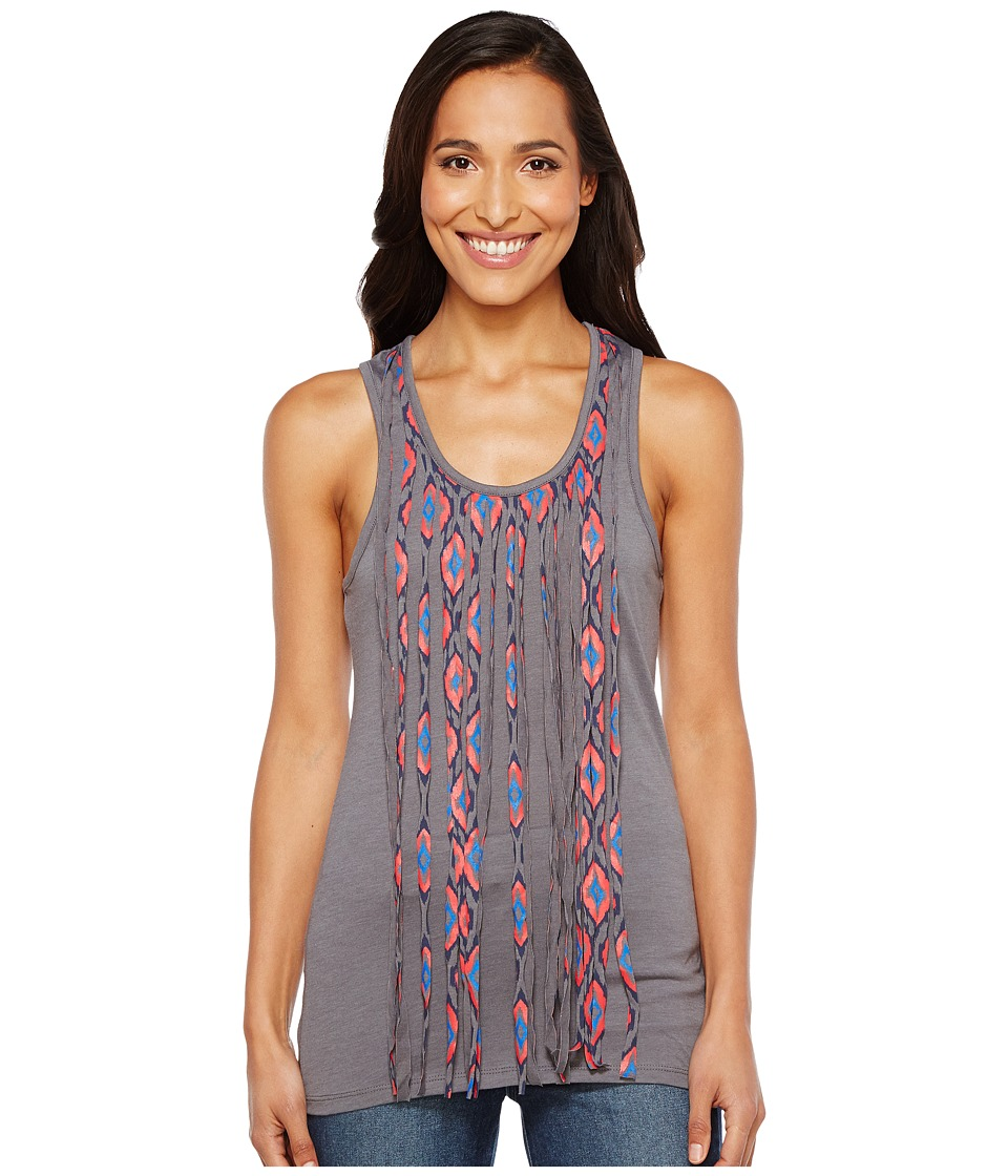 Rock and Roll Cowgirl - Tank Top 49-2111 (Charcoal) Women's Sleeveless